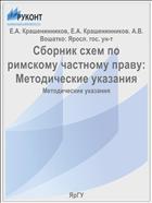 Сборник схем по римскому частному праву:  Методические указания
