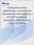 Правовой статус адвокатуры: российская законодательная модель и конституционные принципы обеспечения прав человека
