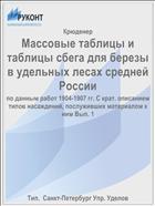 Массовые таблицы и таблицы сбега для березы в удельных лесах средней России