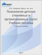 Психология детских стихийных и организованных групп: Учебное пособие