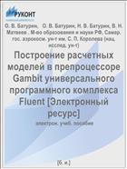 Построение расчетных моделей в препроцессоре Gambit универсального программного комплекса Fluent [Электронный ресурс]