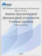 Анализ бухгалтерской (финансовой) отчетности: Учебное пособие