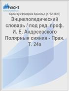 Энциклопедический словарь / под ред. проф. И. Е. Андреевского Полярныя сияния - Прая. Т. 24а