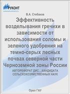 Эффективность возделывания гречихи в зависимости от использования соломы и зеленого удобрения на темно-серых лесных почвах северной части Черноземной зоны России