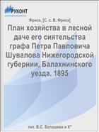 План хозяйства в лесной даче его сиятельства графа Петра Павловича Шувалова Нижегородской губернии, Балахнинского уезда. 1895
