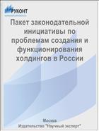 Пакет законодательной инициативы по проблемам создания и функционирования холдингов в России