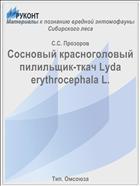 Сосновый красноголовый пилильщик-ткач Lyda erythrocephala L.