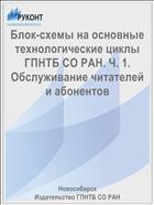 Блок-схемы на основные технологические циклы ГПНТБ СО РАН. Ч. 1. Обслуживание читателей и абонентов
