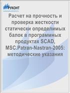 Расчет на прочность и проверка жесткости статически определимых балок в программных продуктах SCAD, MSC.Patran-Nastran-2005: методические указания
