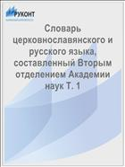 Словарь церковнославянского и русского языка, составленный Вторым отделением Академии наук Т. 1