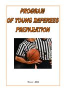 Program of young referee preparation