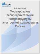 Формирование распределительной инфраструктуры электронной коммерции в России
