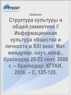 ��������� �������� � ����� ��������� // �������������� �������� �������� � �������� � XXI ����: ���. ��������. ����. ����., ��������� 20-23 ����. 2006 �. � ���������: �����, 2006. � �. 125-128.