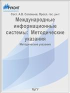 Международные информационные системы:  Методические указания